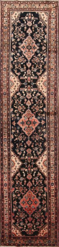 Malayer Hamadan Persian Runner Rug 3x14