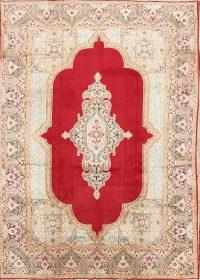 Vintage Floral Red Kerman Persian Area Rug 9x13