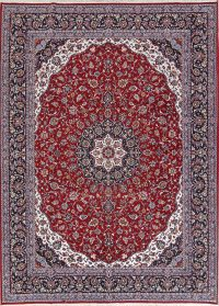 Soft Plush Floral Red Kashan Persian Area Rug 8x11