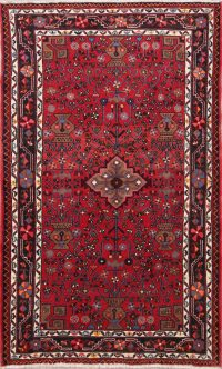Red Hamedan Persian Area Rug 4x7