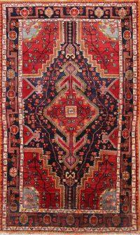Vintage Geometric Zanjan Hamedan Persian Area Rug 4x7