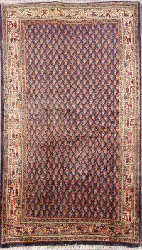 Vintage Botemir Persian Area Rug 4x7