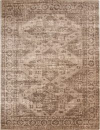 Geometric 2x3 Machine Made Belgium Oriental Rug Brown