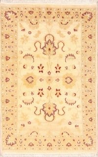 Floral Gold Oushak Chobi Oriental Rug 3x5