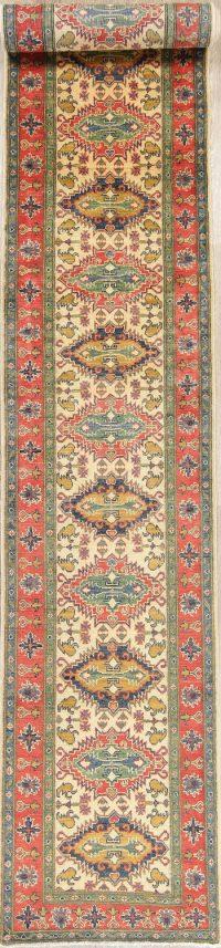 Kazak-Chechen Oriental Runner Rug 3x19