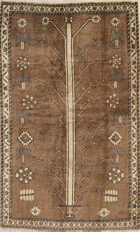 Brown Gabbeh Shiraz Persian Rug 4x7