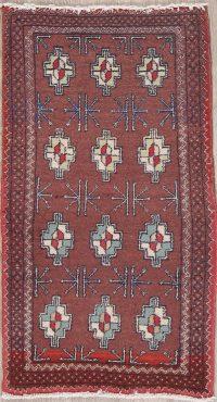 Geometric Balouch Persian Wool Rug 2x4