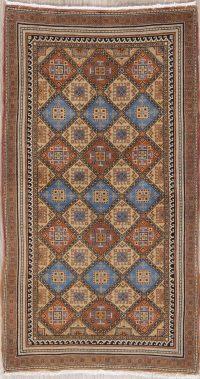 Vintage Geometric Turkoman Persian Wool Rug 3x5