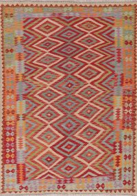 Modern Flat-Weave Turkish Kilim Area Rug 6x8
