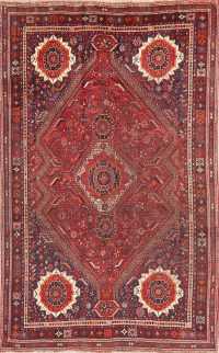 Antique Tribal Red Lori Persian Area Rug 6x9