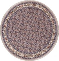 Geometric Gray Bidjar Indian Wool Rug 8x8 Round