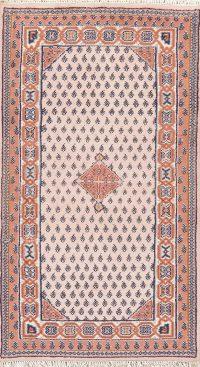 Geometric Heriz Indian Wool Rug 3x5