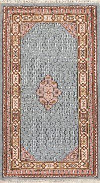 Light Blue Geometric Bidjar Indin Oriental Wool Rug 3x5