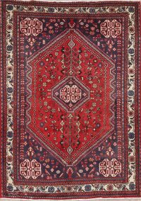 Vintage Tribal Red Abadeh Persian Wool Rug 3x5