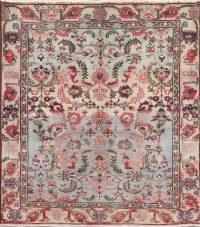 Vintage Floral Tabriz Persian Wool Rug 4x5