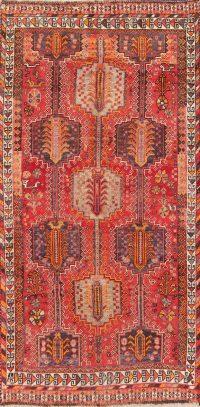 Vintage Tribal Red Lori Persian Wool Rug 4x7