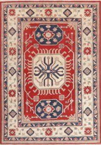 Geometric Kazak Pakistan Wool Rug 5x7