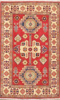 Red Kazak-Chechen Oriental Rug 3x4