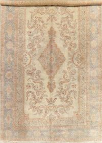 Antique Floral Kerman Oriental Wool Rug 12x19