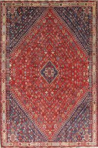 Pre-1900 Antique Vegetable Dye Abadeh Persian Area Rug 6x9