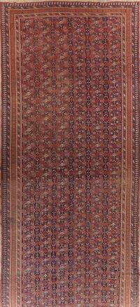 Large Antique Vegetable Dye Afshar Persian Runner Rug 9x22