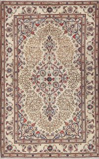 Geometric Kashan Persian Area Rug 4x7