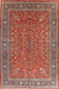 Vegetable Dye Floral Sarouk Persian Wool Rug 11x17