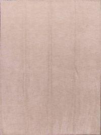Solid Ivory Gabbeh Oriental Modern Area Rug