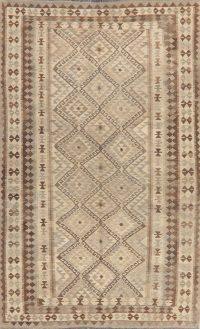 Flat-Woven Geometric Kilim Turkish Area Rug 5x9