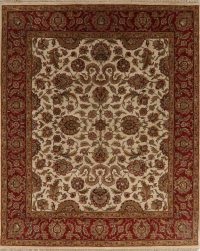 All-Over Floral Ivory Agra Oriental Area Rug 8x10