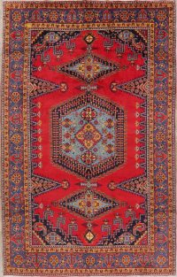 Geometric Red Viss Persian Area Rug 8x12