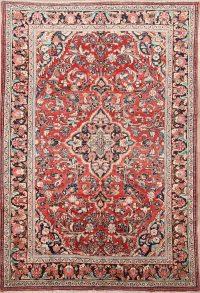 7x10 Mahal Sarouk Persian Area Rug