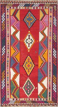 Red Geometric Kilim Shiraz Persian Area Rug 6x9