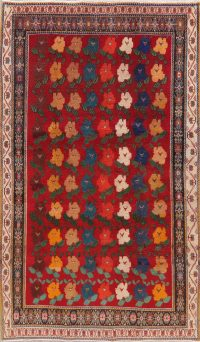 Vintage Floral Red Shiraz Persian Wool Rug 5x9