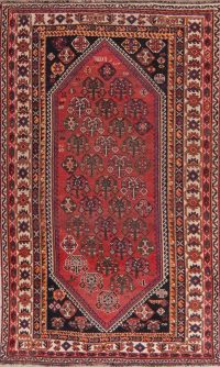 Antique Geometric Red Lori Persian Area Rug 5x9