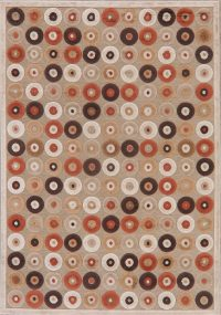 All-Over Brown Modern Area Rug 5x7