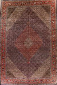 Antique Vegetable Dye Geometric Tabriz Persian Rug 13x19