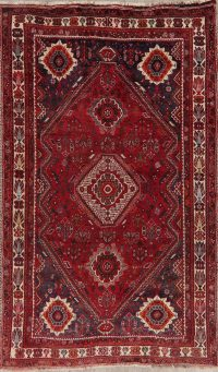 Tribal Red Geometric Abadeh Persian Area Rug 6x9