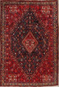 100% Vegetable Dye Antique Abadeh Persian Area Rug 5x9