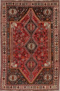 Tribal Geometric Red Lori Persian Area Rug 5x8