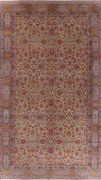 Antique Large Kerman Lavar Persian Area Rug Wool 11x19