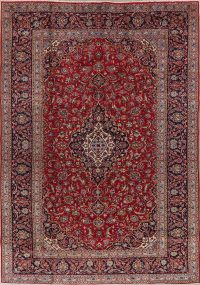 Traditional Floral Red Kashan Persian Area Rug 8x12