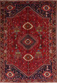 Vintage Tribal Animal Pictorial Shiraz Persian Area Rug 6x9