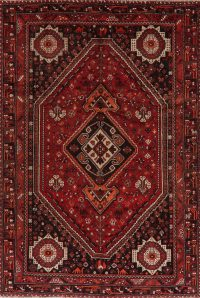 Antique Tribal Shiraz Red Persian Area Rug 7x10