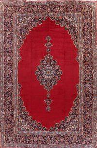Vintage Floral Red Kashan Persian Area Rug 10x14
