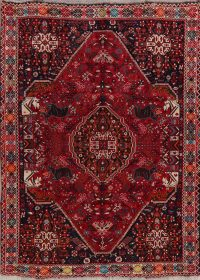 Animal Pictorial Red Tribal Lori Persian Area Rug 6x8