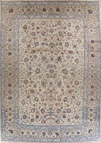 All-Over Floral Large Kashan Persian Area Rug 11x17
