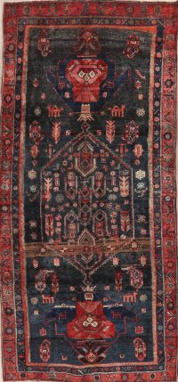 Tribal Geometric Bidjar Persian Runner Rug 4x9