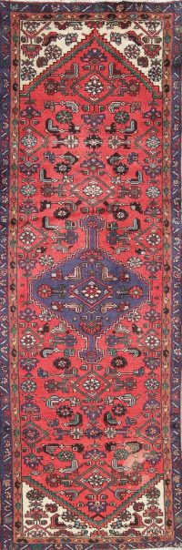 Tribal Hamedan Persian Runner Rug 3x9