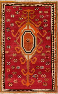 Geometric Red Shiraz Persian Area Rug 5x8